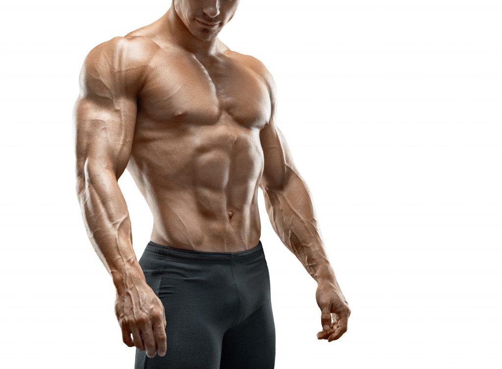 腹斜筋が美しいマッチョな男性
