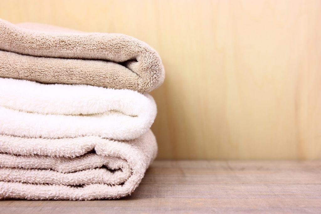 汗の吸水がよさそうな上質のタオル