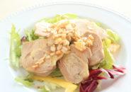 中華料理、蒸し地鶏、ねぎソースかけ