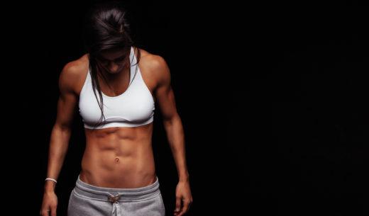 腹横筋が発達した女性