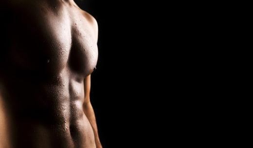 セクシーな筋肉男性の体