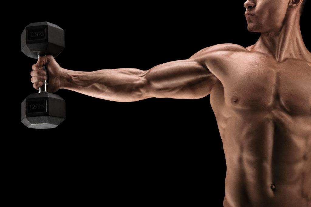 綺麗な筋肉の男性