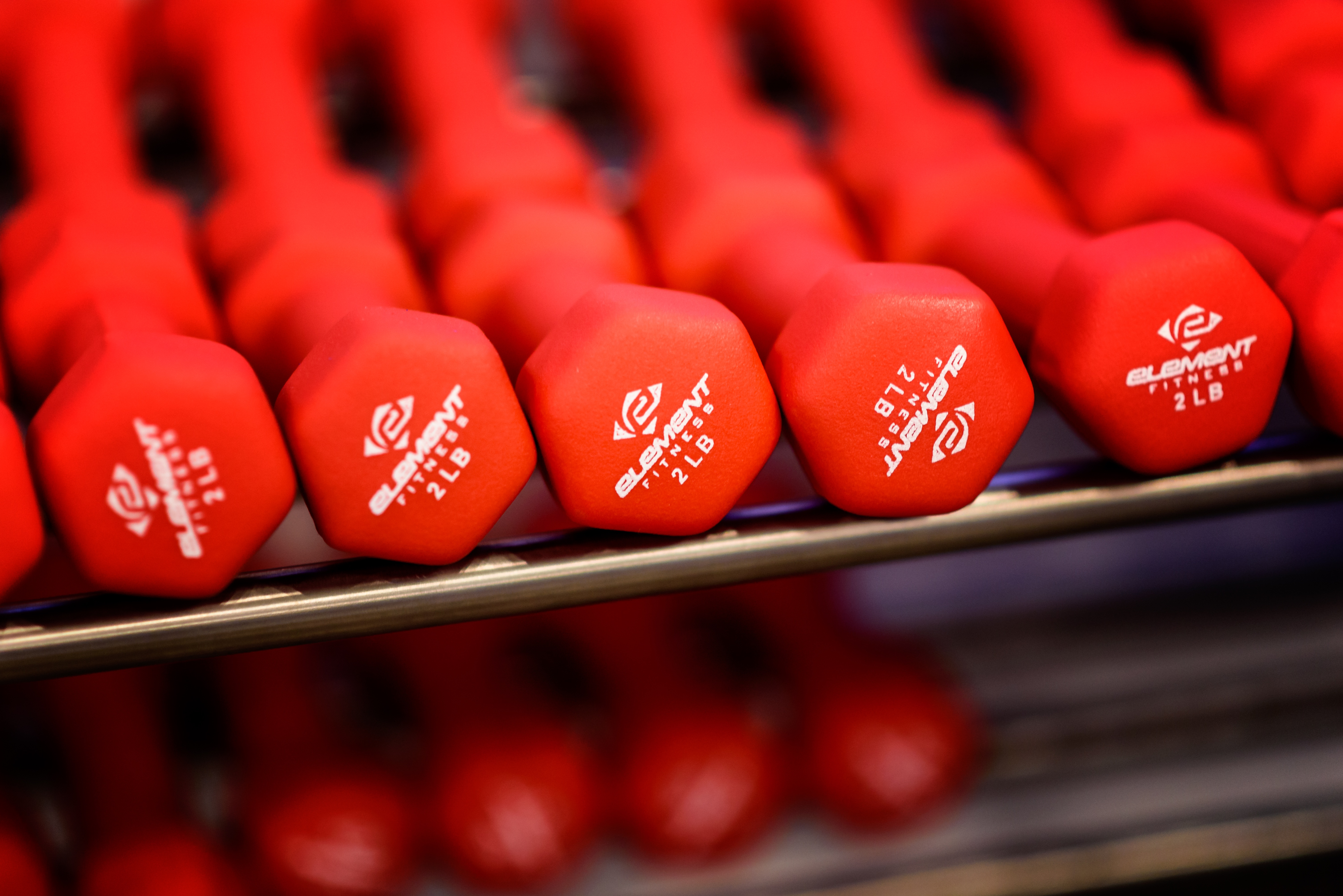 赤いダンベル