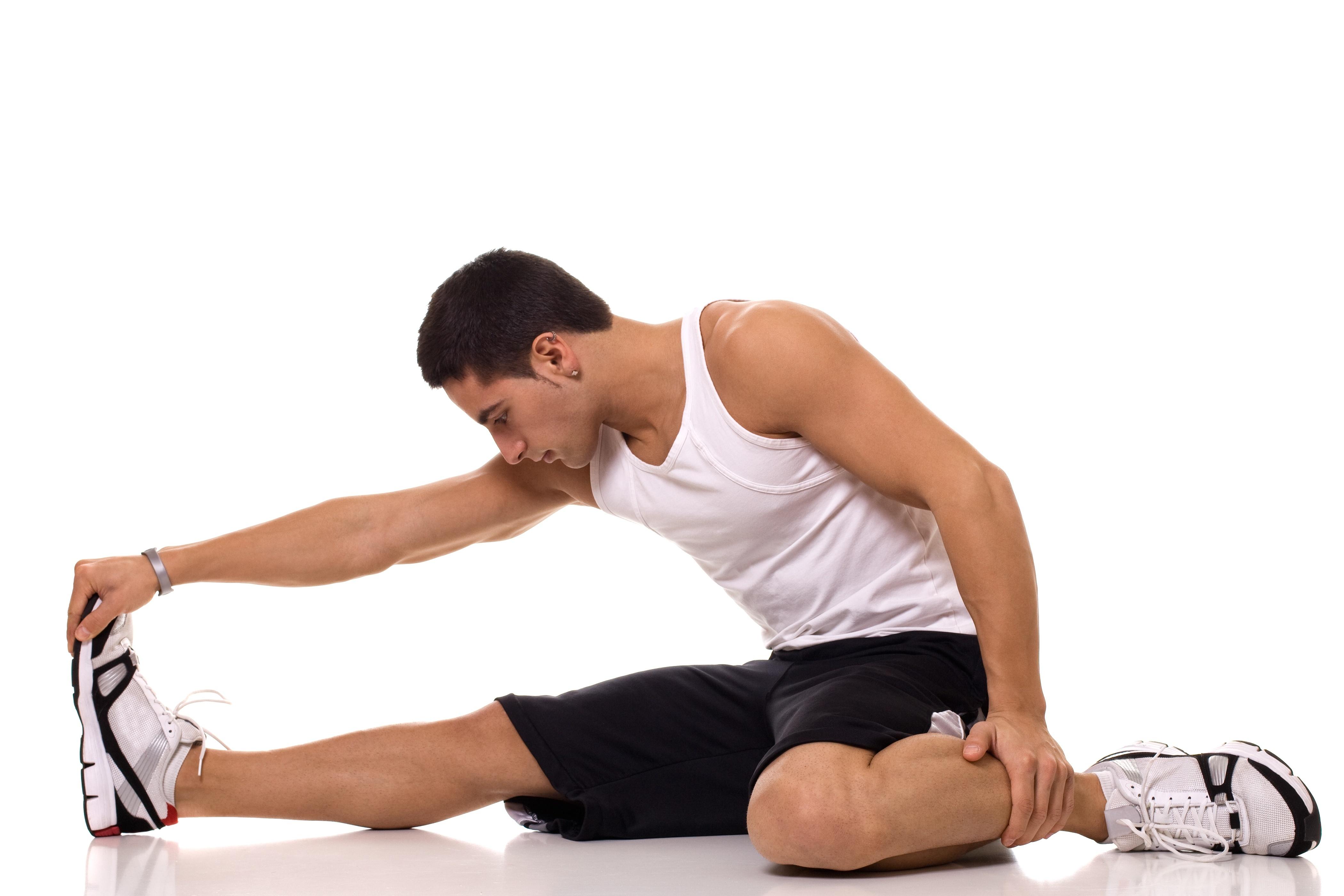 座っている膝腱の伸張