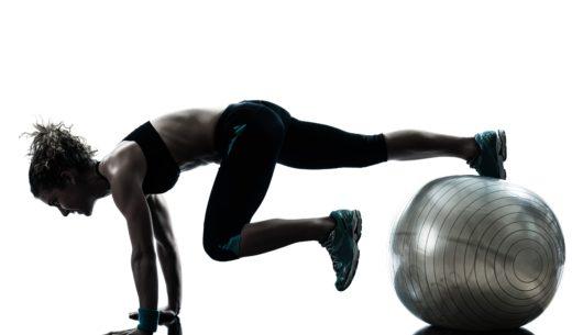 フィットネス ボール運動姿勢