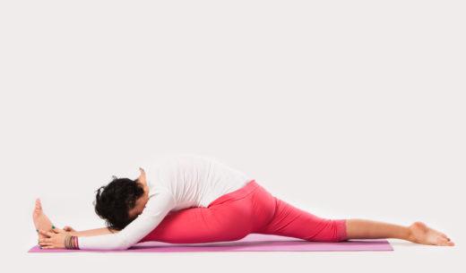 太もも、脚、腰、腰の筋肉を伸ばす
