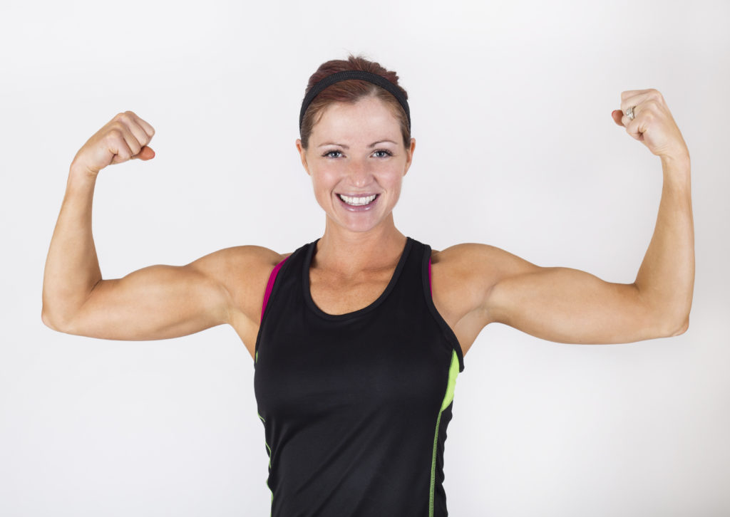強い筋肉女性