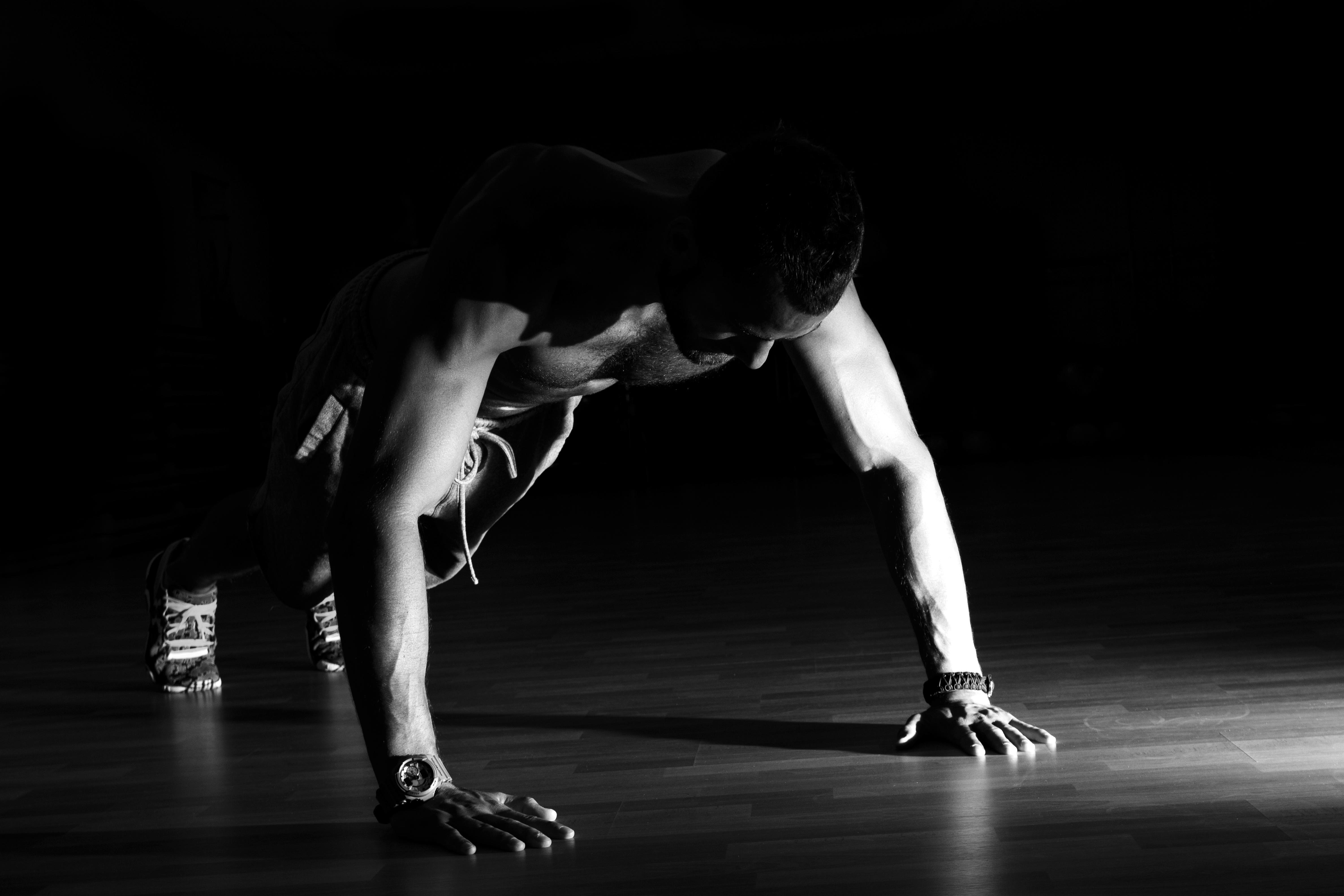 筋力トレーニング中