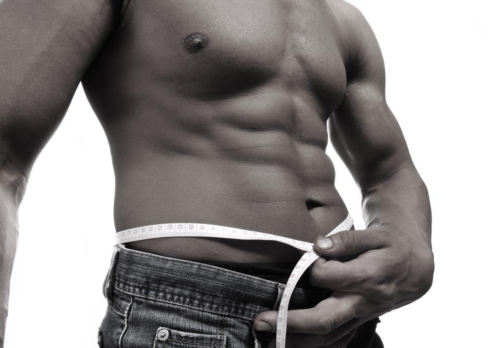 腹筋のすごい男性