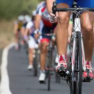 トライアスロンの自転車レース