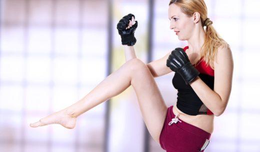 女性キックボクサー