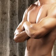 肉体の美しい男性