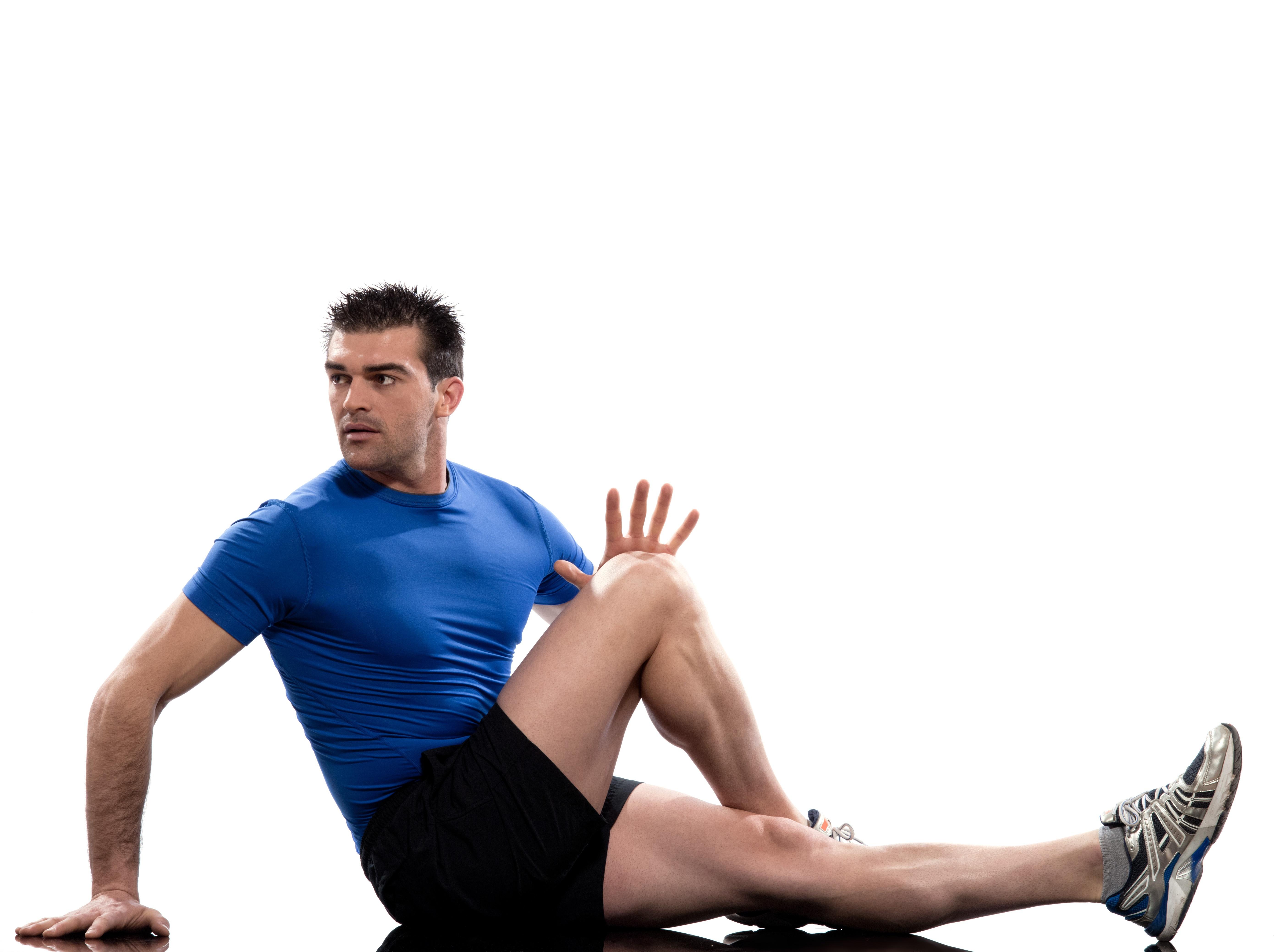 腹斜筋を鍛える男性