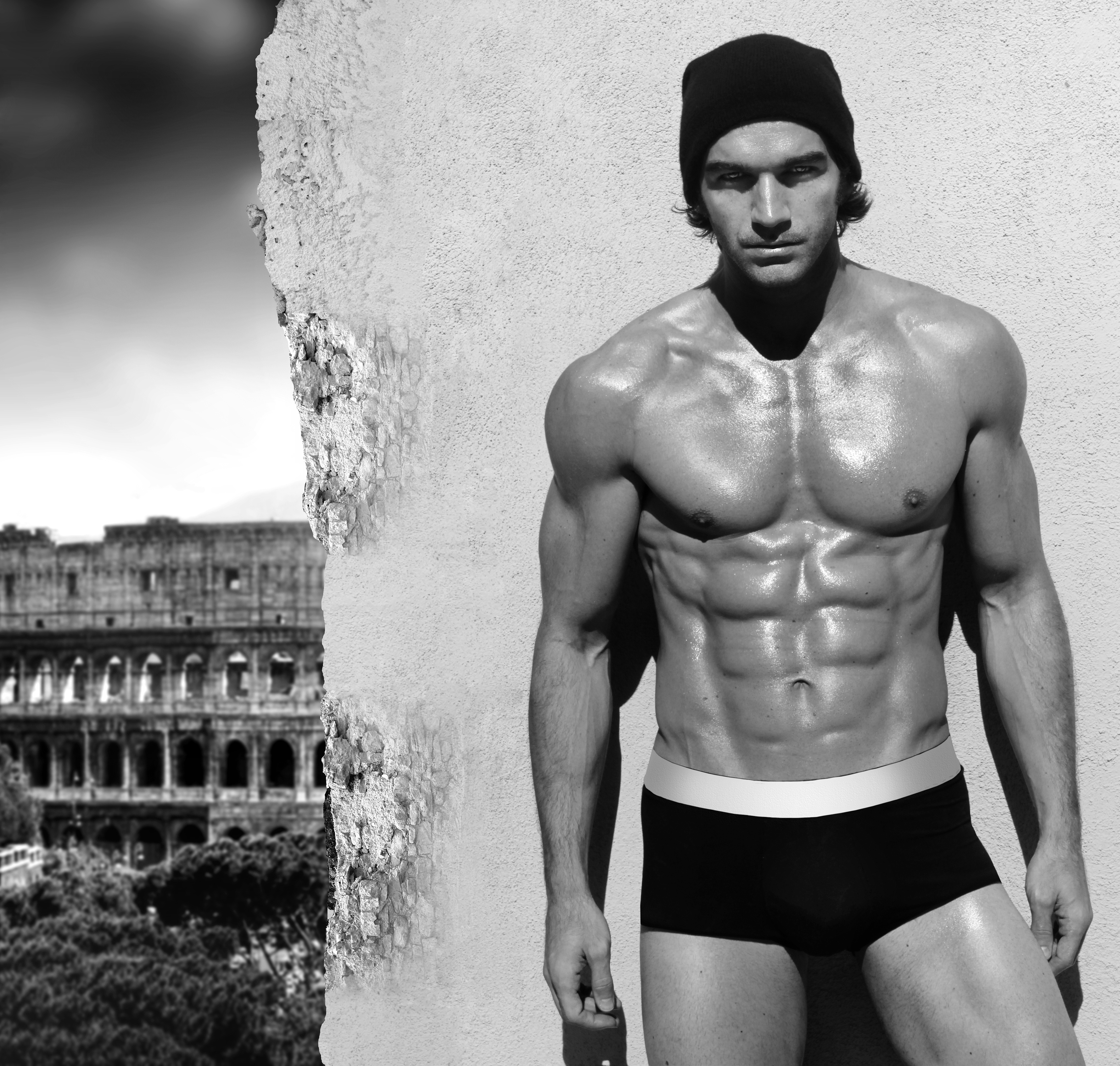 筋肉のすごい男性