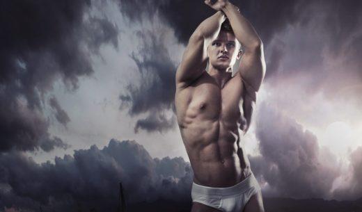 美しい筋肉の男性