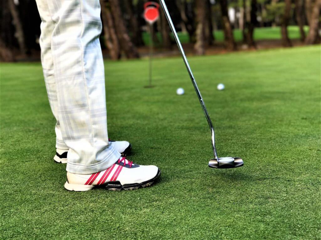 ゴルフする人