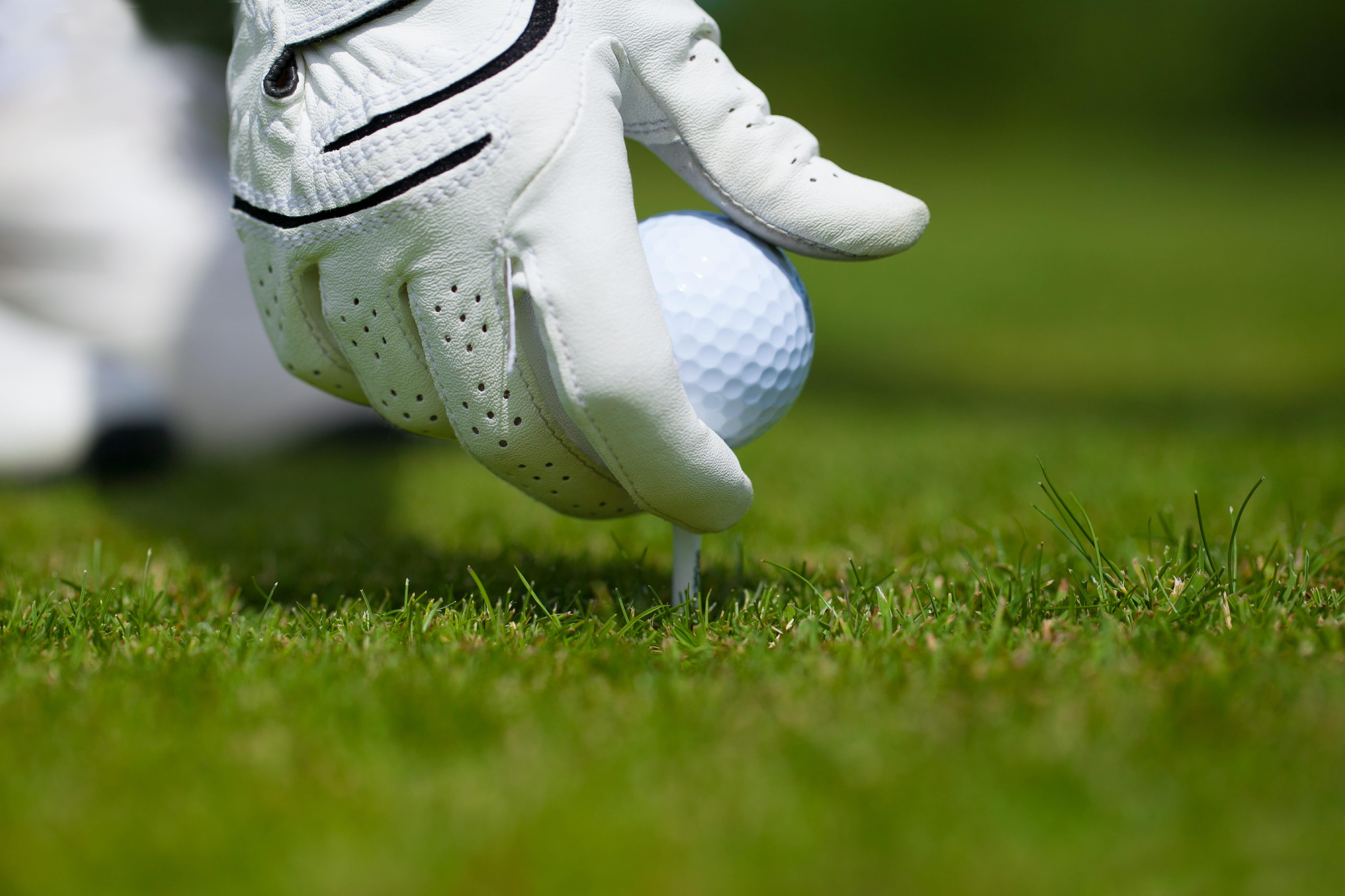 ティーとゴルフボール