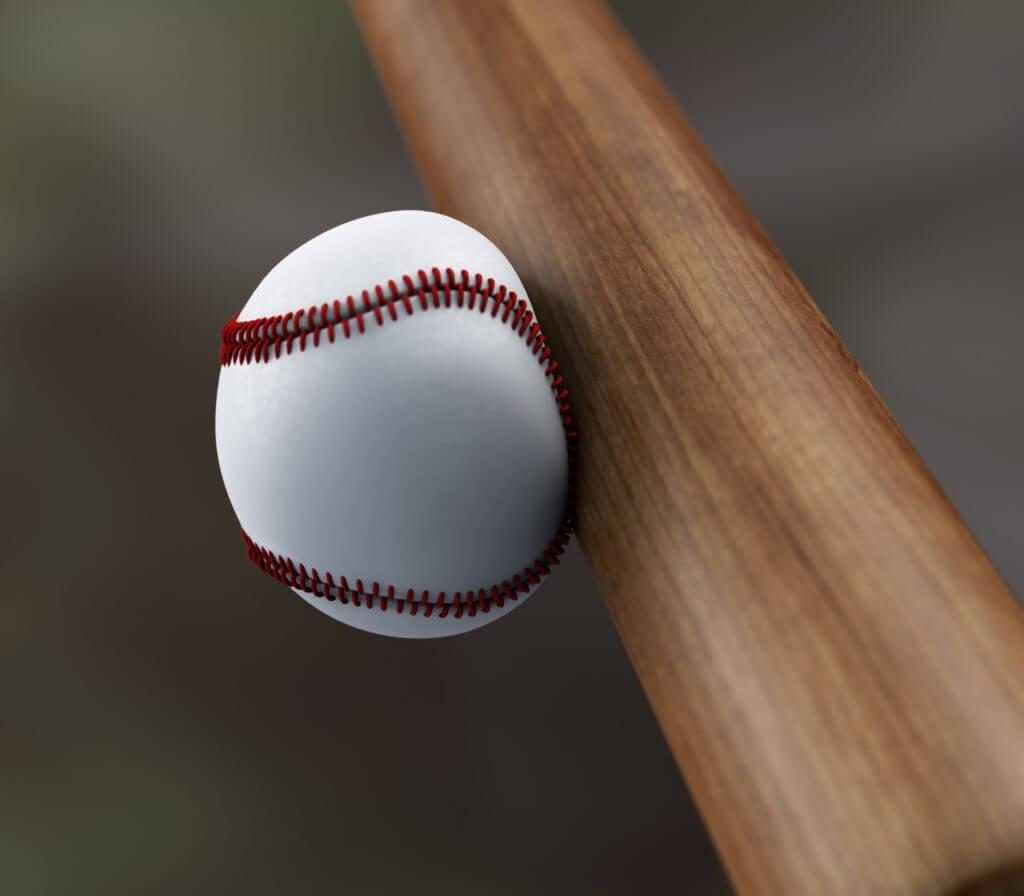 野球ボールとバット