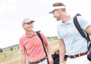 笑顔のゴルファーたち