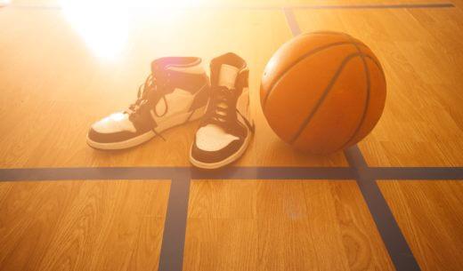 バスケットボールとシューズ