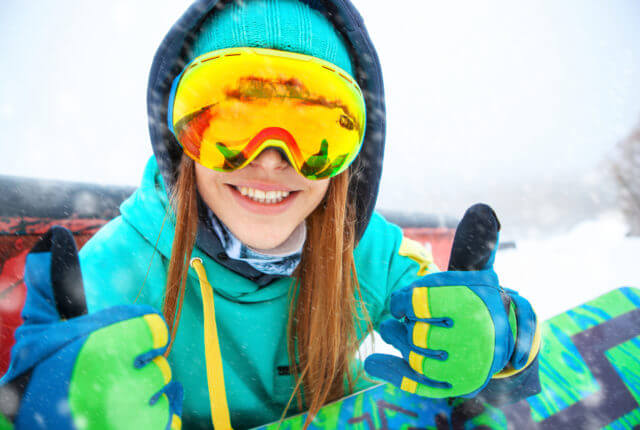 スノーボード、女性
