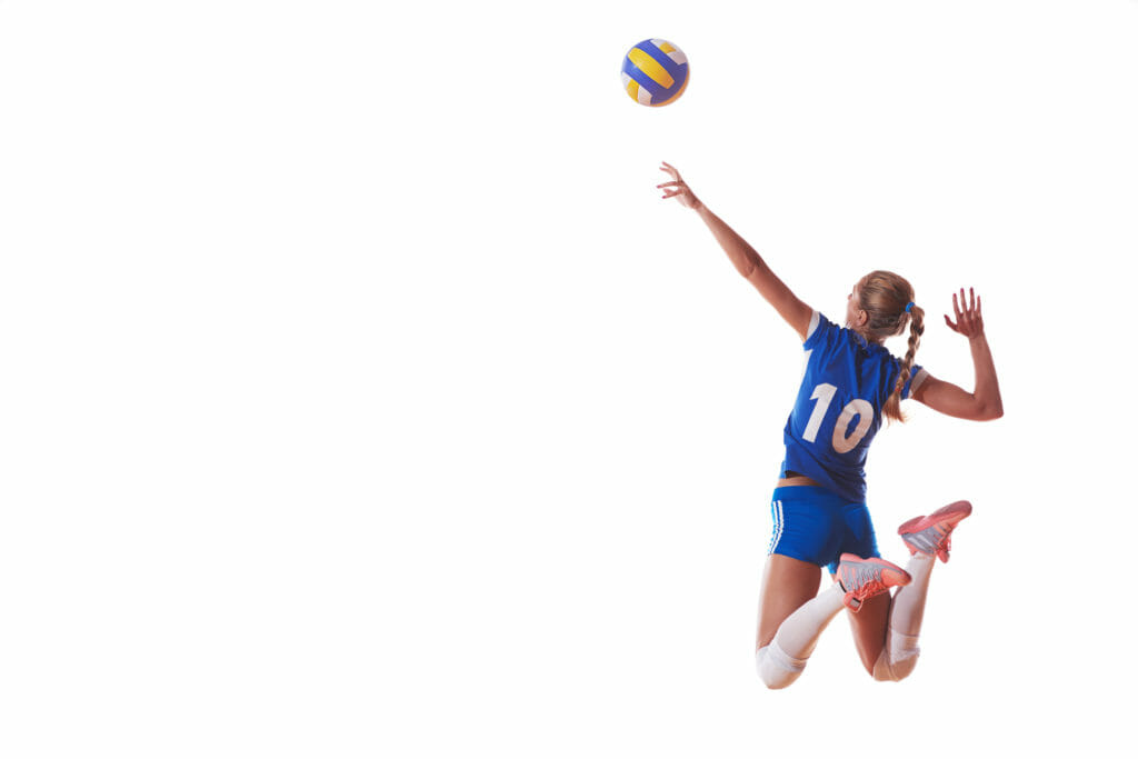 女性バレーボールプレイヤー