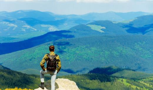カルパチア山脈の美しい風景
