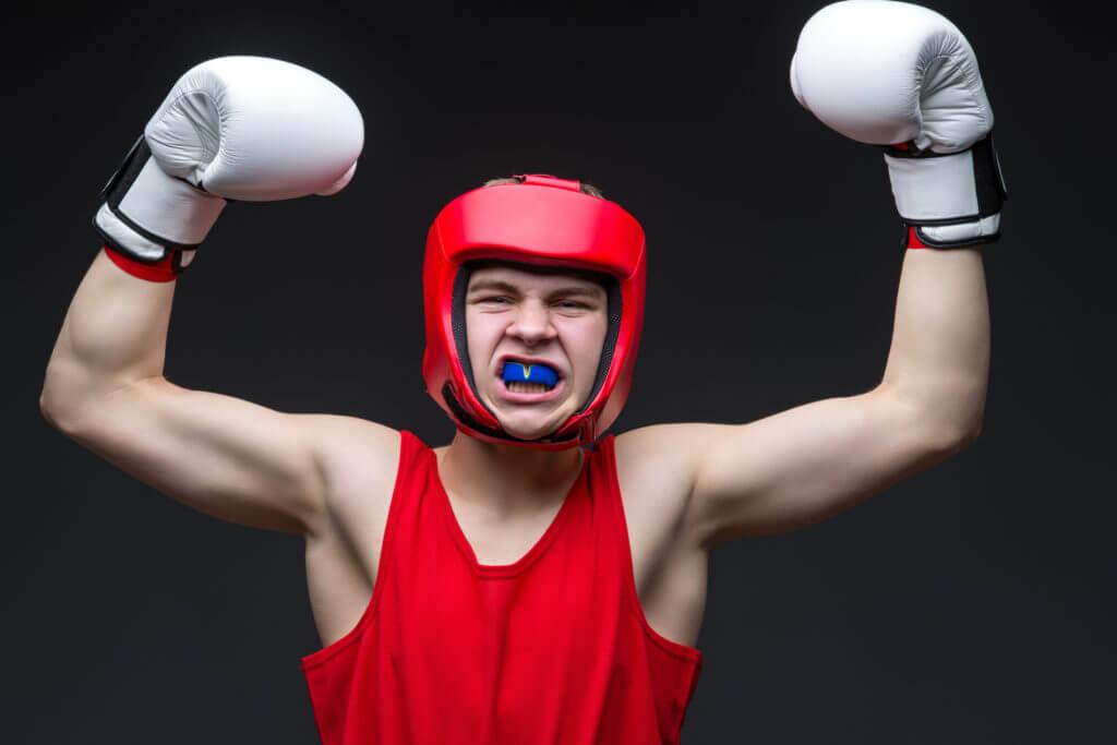 勝利したボクサー