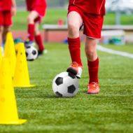 サッカーマーカーコーントレーニング