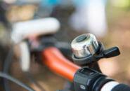 ハンドルバーに着いた自転車用ベル
