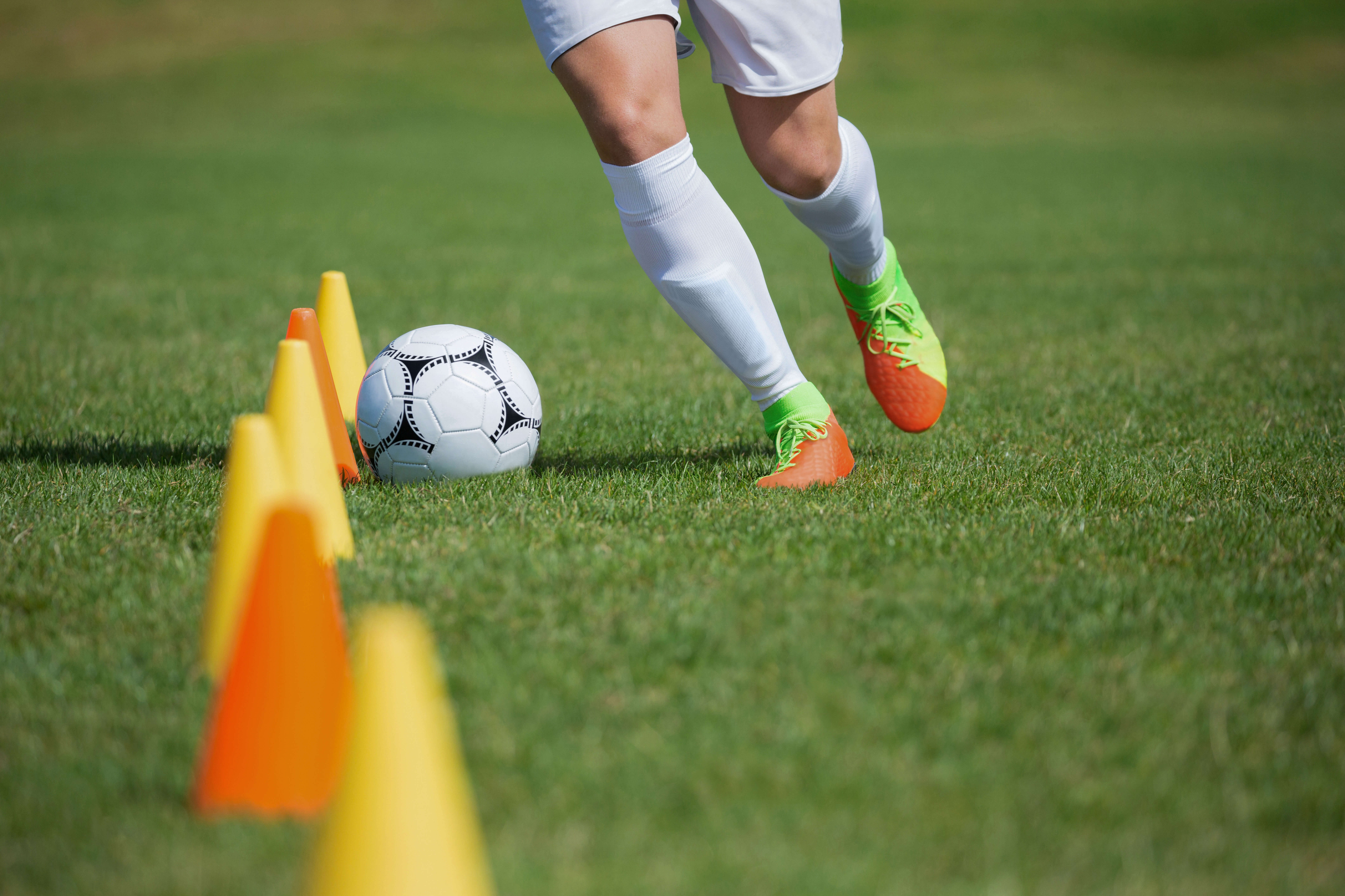 サッカー選手の練習