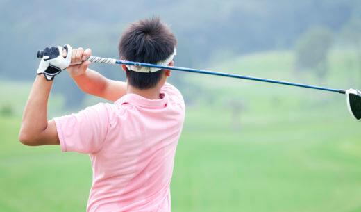 ゴルフ クラブ フォロースルー