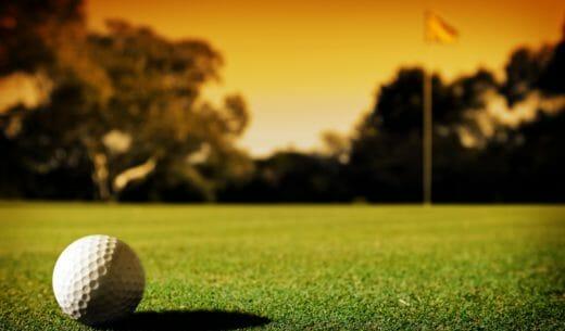 夕焼けのゴルフ