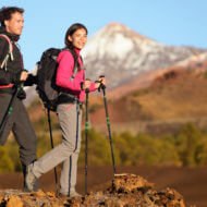 ハイキングする人たち