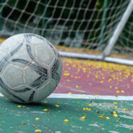 フットサルのボールとゴール
