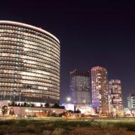 横浜駅近くの夜景