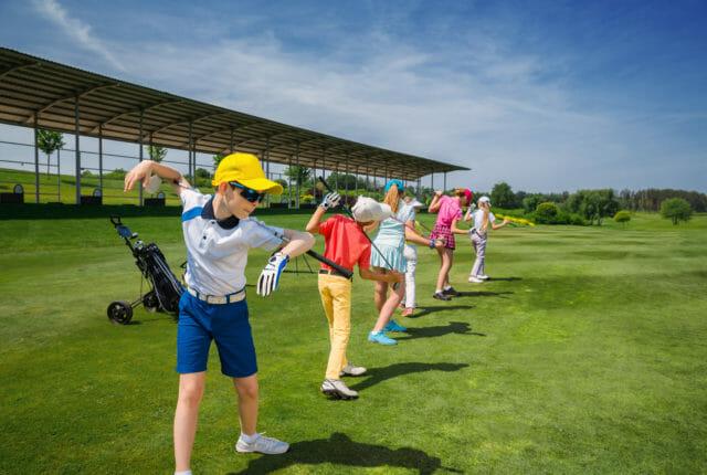 子供用のゴルフ教室