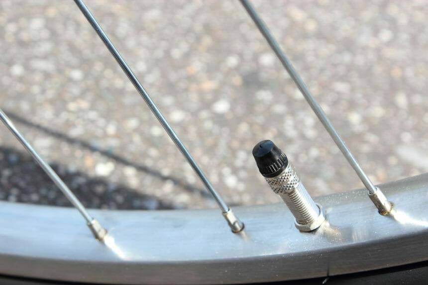 自転車のバルブ