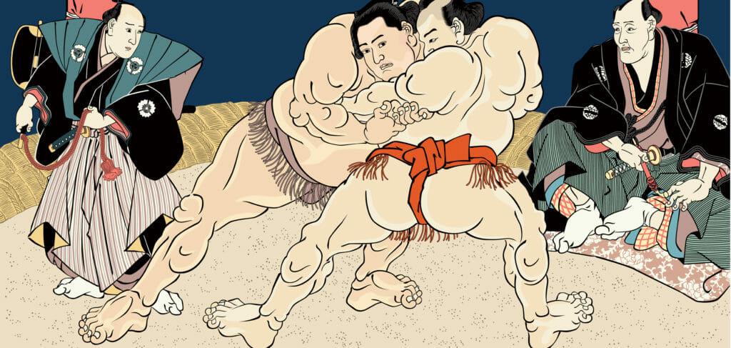 浮世絵 相撲