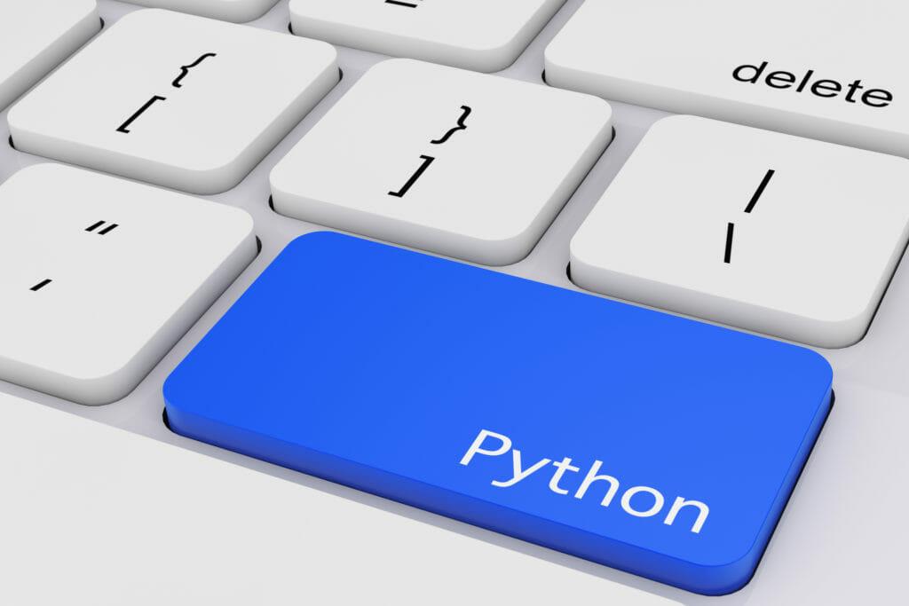 キーボードにある青いPythonと書かれたキー